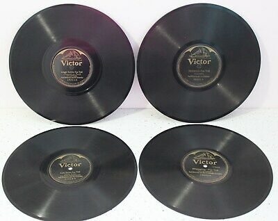 4 Antique PAUL WHITEMAN Fox Trot VICTOR 78 RPM Thick Glass RECORDS Early 1900's