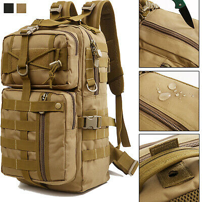 30L Military Tactical Backpack Molle Waterproof Hiking Trekking Bag Assault Pack