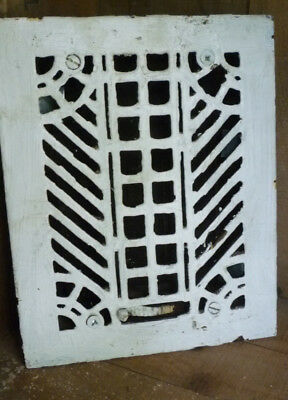 Antique Cast Iron Feather Lattice Heating Grate SIMONDS MFG PAT May 1882 NY