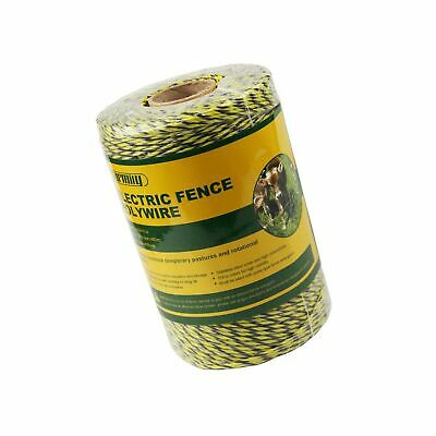 Farmily Portable Electric Fence Polywire 1312 Feet 400 Meter 9 Conductors and