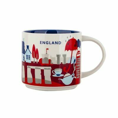 Starbucks City Mug Cup You are here Series YAH England 14oz NEW