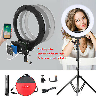 """ZOMEI 18"""" LED Ring Light Dimmable Bicolor Lighting for Photography Makeup Youtub"""