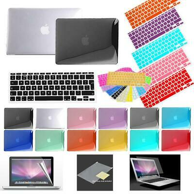 For All MacBook Air/Pro/Retina Crystal case + keyboard cover + Screen protector