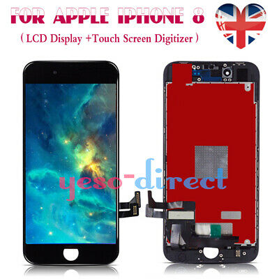 For iPhone 8 Retina LCD Screen Replacement Touch Digitizer Assembly Black