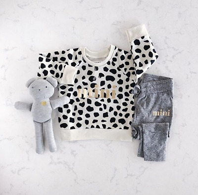 Kids Baby Girl Leopard Mini Tops Long Pants Leggings Set Autumn Outfits Clothes