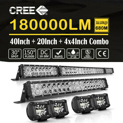 22Inch LED Light Bar+2x 7Inch Combo Work Pods Driving Truck 4WD Offroad 20'' 23'