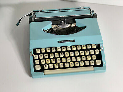 Vintage/Retro IMPERIAL 200 portable typewriter Blue - Made in Japan