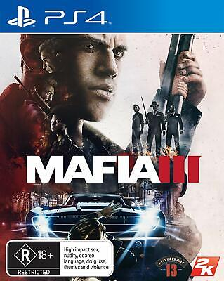 Mafia III 3 Sony PS4 Gangster Role Play Action Strategy Game Playstation 4
