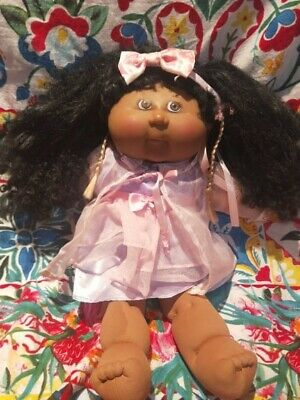 Cabbage Patch Playalong African corn silk curly hair vintage toy