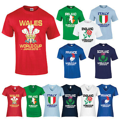 Rugby World Cup Japan 2019 T Shirt Tee England Wales Scotland Ireland France
