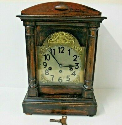 Antique Junghans, Westminster Chime. 8 Day, Maple Bracket Clock-Wurttemberg-1911