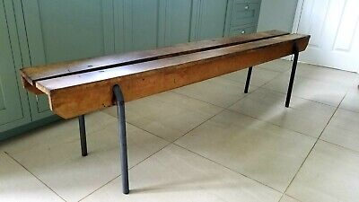 Vintage Original Kingfisher circa 1940's School Gym Stacking Industrial Benches
