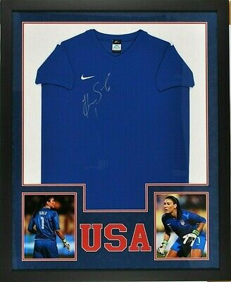 Hope Solo Signed Team Usa Authentic Soccer Jersey Framed Jersey, Schwartz Coa