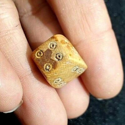 Ancient Indus Valley Roman Carved Dice Lucky Gamble Bead Complete Numbers