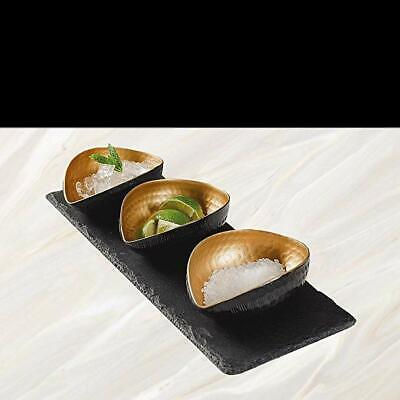 The Just Slate Company Deluxe Gold Mezze Set