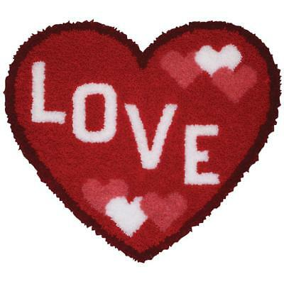 Love Heart Shaped Latch Hook Rug Kit - Childrens - 37791