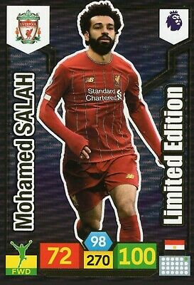 Panini Premier League 2019/20 19/20 Mohamed Salah Limited Edition Card Adrenalyn