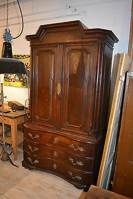 Baroque Tallboy oak Brandenburg um 1750 in Original Antique Patina