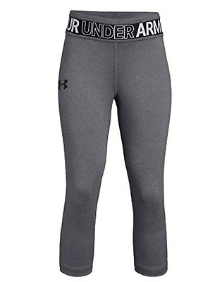 Under Armour Girls' HeatGear Armour Heather Capris - Grey NWOT