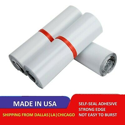 Poly Mailers Plastic Envelopes Extra Tough Shipping Bags 2.5 Mil White Premium
