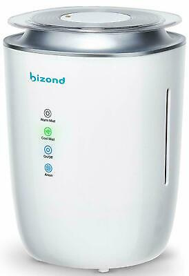 BIZOND Ultrasonic Humidifier Warm and Cool Mist - Ultra Quiet Humidifier