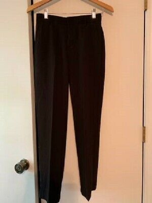 Boys Youth Ralph Lauren Chaps Black Polyester/Rayon Dress Slacks Size 14 Regular