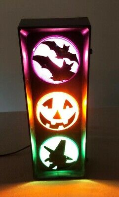 "Lite F/X Halloween Traffic Light 16"" Tall Blinking Lights Corded Plug-In Great!!"