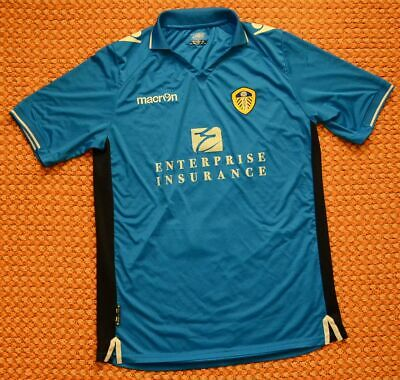 2013 - 2014 Leeds United, Third Blue Football Shirt by Macron, Adult 3XL, 2XL