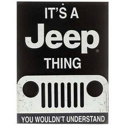IT'S A JEEP THING Embossed Metal Signs Decor Emblem MAN CAVE DECOR Ford Chevy
