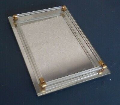 Vintage Decorative Tabletop Vanity Mirror Tray For Perfume Bottles Jewelry Etc