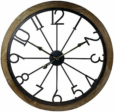 Large Metal Skeleton Wall Clock 68cm Big Huge Open Face Clocks Round Home Decor
