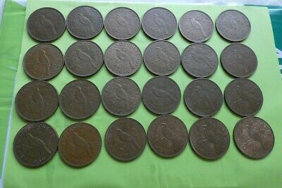 NZ lovely complete penny set 1940 - 1964 many with mint lustre
