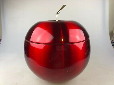Retro Anodised Red Apple Ice Bucket - Complete In Great Condition Australia