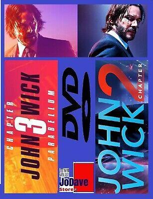 John Wick: Chapter 3 Parabellum (DVD, 2019) &  Chapter 2 Keanu Reeves Widescreen
