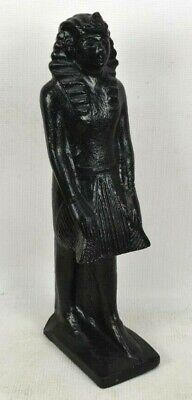 "Ancient Egyptian Pharaoh Statue 16"" Tall Black Figurine Decoration"