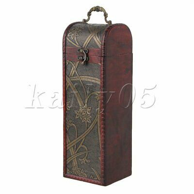 Retro Vintage Wooden Wine Box Bottle Case Wedding Bridesmaid Birthday Gifts