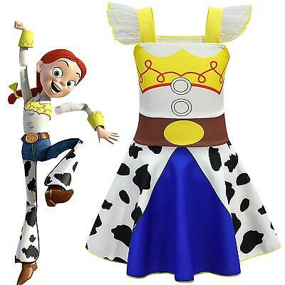 Toy Story Jessie Cowgirl Girl Kid Cosplay Fancy Dress Costume Party Outfit Gift