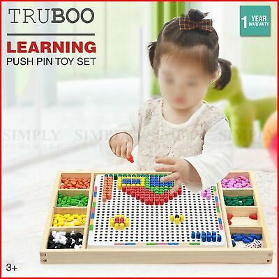 Truboo Kids Peg Board Educational Puzzle Toys Children Creative Early Learning