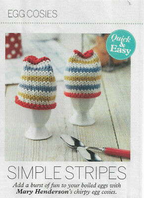 knitting pattern magazine pullout; cotton DK egg cosies