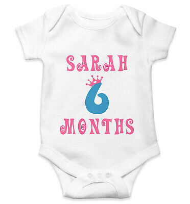 Personalised Baby Grow Vest Bodysuit Boys Girls Name Funny Baby Shower Gift 117
