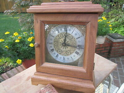 Classic Colonial Bracket Clock, Mantle, Shelf.Hand Made solid Walnut wood, New