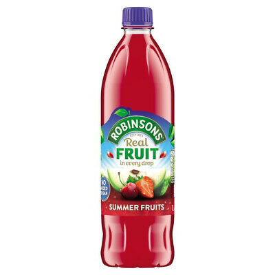 Robinsons No Added Sugar Summer Fruits Cordial Juice 1 Litre (6 - 24 Pack)