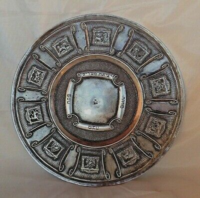 """Chad Gadya""  Sterling Silver Decorative Plate for Passover ."