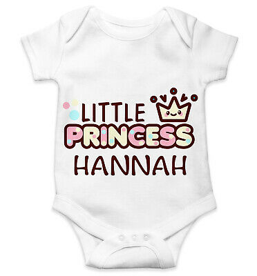 Personalised Baby Grow Vest Bodysuit Boys Girls Name Funny Baby Shower Gift 130