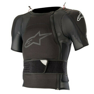 Alpinestars Sequence Short Sleeve Tee Body Armour Suit ACU APPROVED Black Adults
