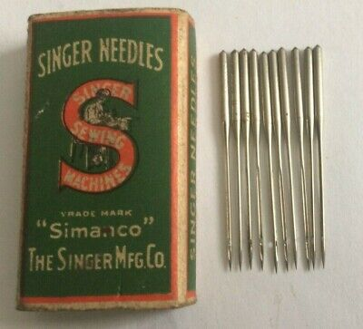 Singer vintage sewing machine type 215 x 21 Needles x 10 size 11