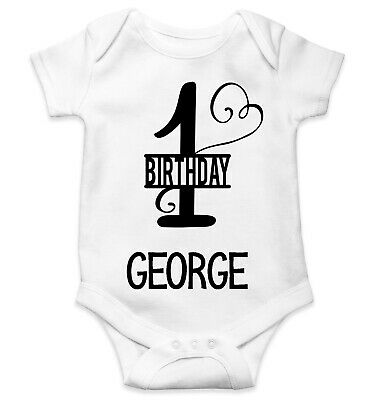 Personalised Baby Grow Vest Bodysuit Boys Girls Name Funny Baby Shower Gift 156