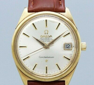 OMEGA CONSTELLATION One Piece Case 168.015 Automatic Vintage Watch 1968's
