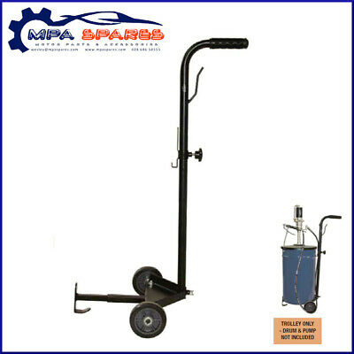 Jefferson Tundra Adjustable Grease Drum Trolley - Adjustabe Base & Locking Clamp