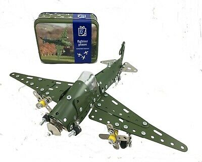 Fighter Plane in a Tin Craft kit. Makes a great gift for both adults and kids.